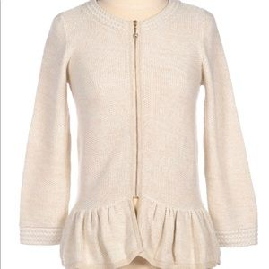 Lilly Pulitzer peplum sweater jacket